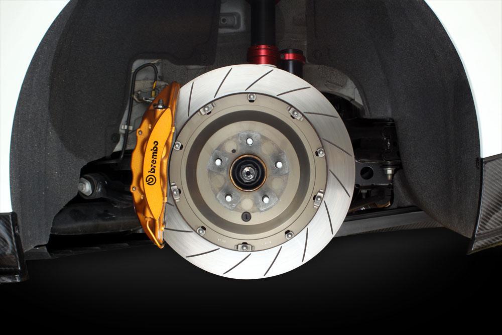 Brakes Lining Rotor : Mine s big brake rotor kit